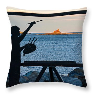 The Seascape Artist Throw Pillow