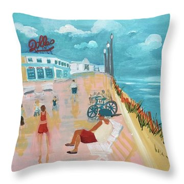 The Seaside Man Throw Pillow