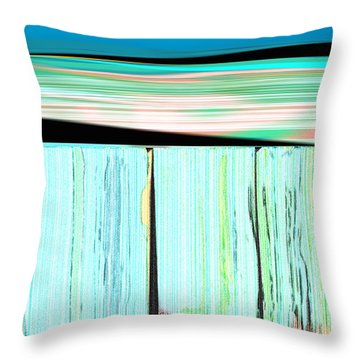 The Seawalls No. 1 Sunrise Throw Pillow