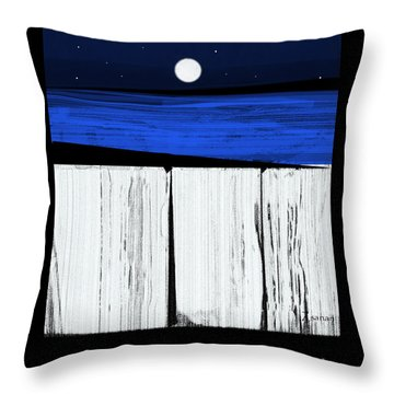 The Seawalls No.4 Full Moon Rising Throw Pillow