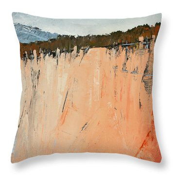 The Second Cliff Edge Throw Pillow by Carolyn Doe
