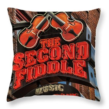 Throw Pillow featuring the photograph The Second Fiddle Nashville by Stephen Stookey
