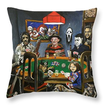 The Second Horror Game Throw Pillow