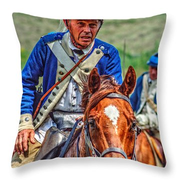 The Second Regiment Light Dragoons 004 Throw Pillow
