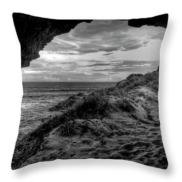 The Secret Cave Throw Pillow