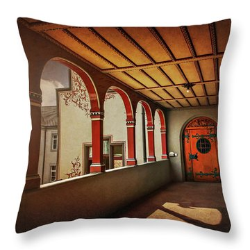 Throw Pillow featuring the photograph The Secret Door In Basel Switzerland  by Carol Japp