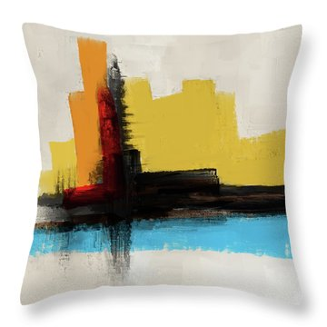 Throw Pillow featuring the mixed media The Secret Island by Eduardo Tavares