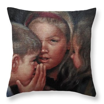 The Secret Throw Pillow by Janet McGrath