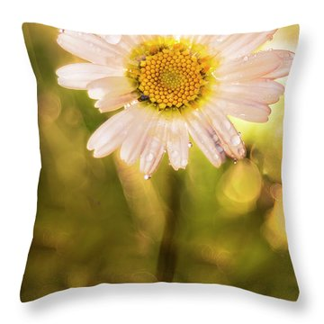 The Secret Language Of Flowers Throw Pillow
