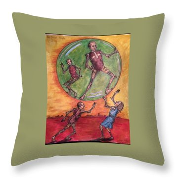 The Secret People Throw Pillow