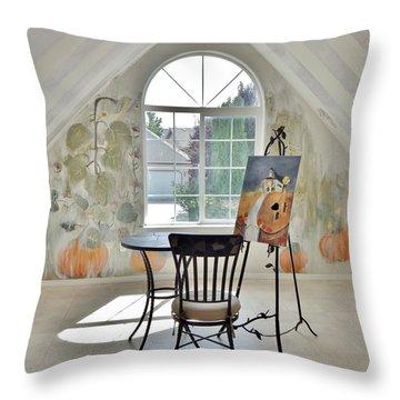 The Secret Room Throw Pillow