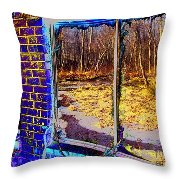 The Secret Window Throw Pillow by Kimmary MacLean