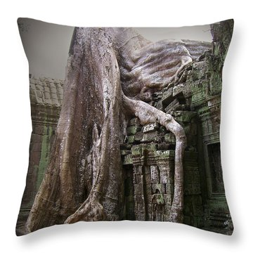The Secrets Of Angkor Throw Pillow