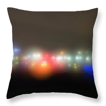 Throw Pillow featuring the photograph The Seeds Of Starbase 4 by Alex Lapidus