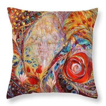The Seeing Of Jerusalem Throw Pillow