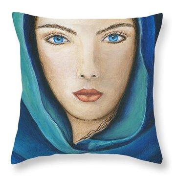 The Seer Throw Pillow by JoDee Luna