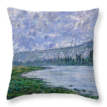 The Seine At Vetheuil, 1880 Throw Pillow