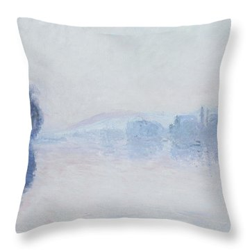 The Seine Near Vernon Throw Pillow by Claude Monet