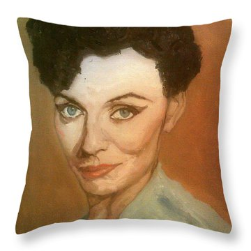 The Self-confidence Of Beauty Throw Pillow