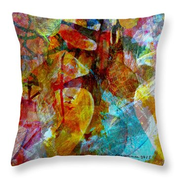 The Seller Throw Pillow by Fania Simon