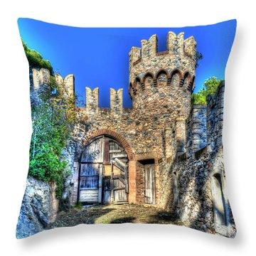 The Senator Castle - Il Castello Del Senatore Throw Pillow