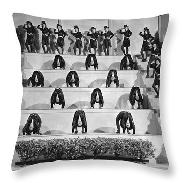 The Sensations Of 1945 Scene Throw Pillow