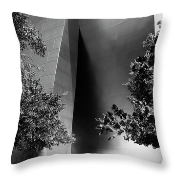 Throw Pillow featuring the photograph The Sensuous Secret Portal At Disney Hall by Lorraine Devon Wilke