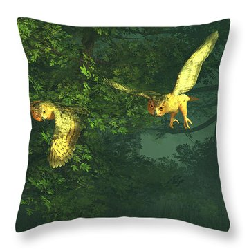 The Sentinels Of Night Throw Pillow