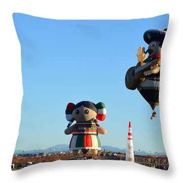 Throw Pillow featuring the photograph The Serenade by AJ Schibig