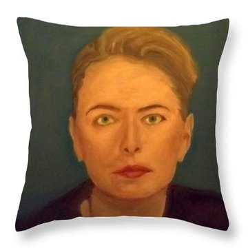 The Serious Lady Throw Pillow