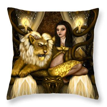 The Serpent Gateway Fantasy Art Throw Pillow
