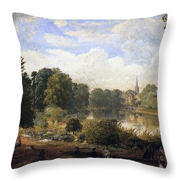 The Serpentine Throw Pillow by Jasper Francis Cropsey