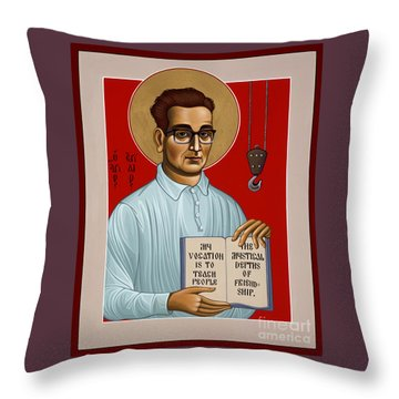 Throw Pillow featuring the painting The Servant Of God Egide Van Broeckhoven Sj 051 by William Hart McNichols