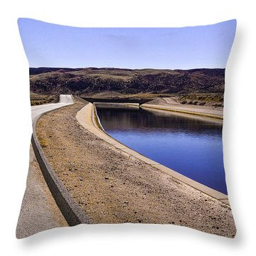 The Service Road Throw Pillow