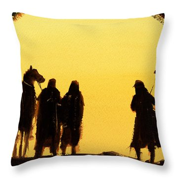 The Setting Desert Sun Throw Pillow
