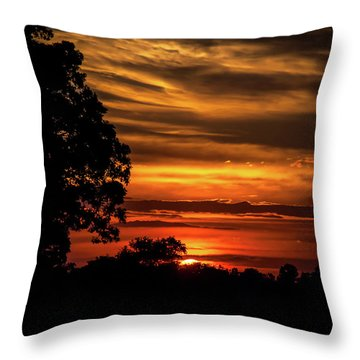 Throw Pillow featuring the photograph The Setting Sun by Mark Dodd