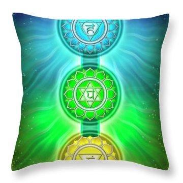 The Seven Chakras - Series 2 Throw Pillow