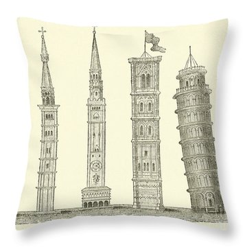 Italy Drawings Throw Pillows