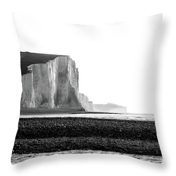 Throw Pillow featuring the photograph The Seven Sisters, Sussex England  by Will Gudgeon