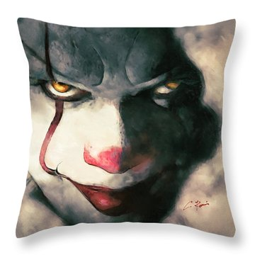 The Sewer Clown Throw Pillow