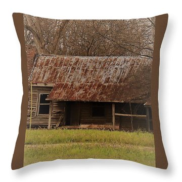 Throw Pillow featuring the photograph The Shack by Aaron Martens