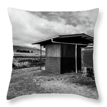 Throw Pillow featuring the photograph The Shack by Break The Silhouette