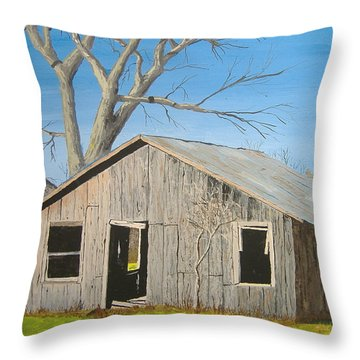 The Shack Throw Pillow by Norm Starks