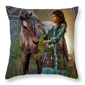 The Horse Whisperer Throw Pillow by Shadowlea Is