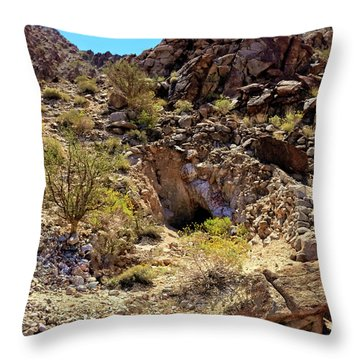 Throw Pillow featuring the photograph The Shafted Mine by Robert Bales