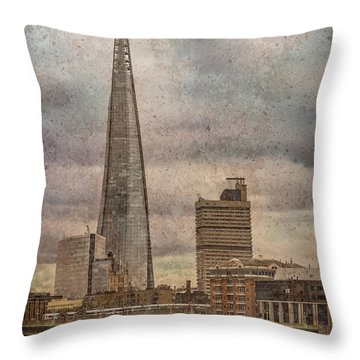 London, England - The Shard Throw Pillow