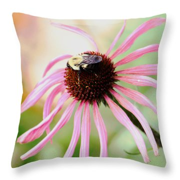 Throw Pillow featuring the photograph The Sharing Game by Deborah  Crew-Johnson