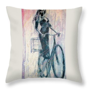 The She Wolf Throw Pillow