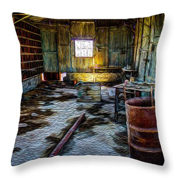 The Sheddwact Secrets Throw Pillow