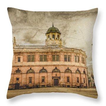 Oxford, England - The Sheldonian Theater Throw Pillow